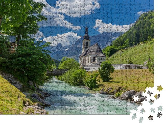 """Puzzle 1000 Teile """"Berchtesgadener Voralpenlandes: Ramsau und Umgebung"""""""