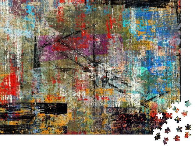 """Puzzle 1000 Teile """"Handgemalter abstrakter Hintergrund"""""""
