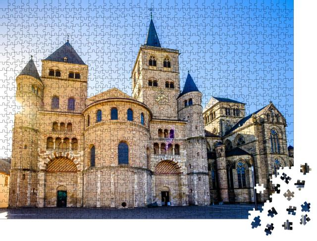"""Puzzle 1000 Teile """"Historische Altstadt von Trier in Deutschland"""""""