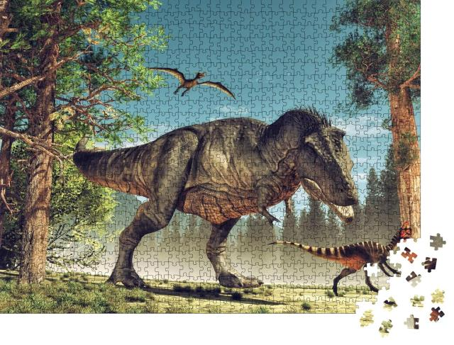"""Puzzle 1000 Teile """"3D-Rendering: Dinosaurier"""""""