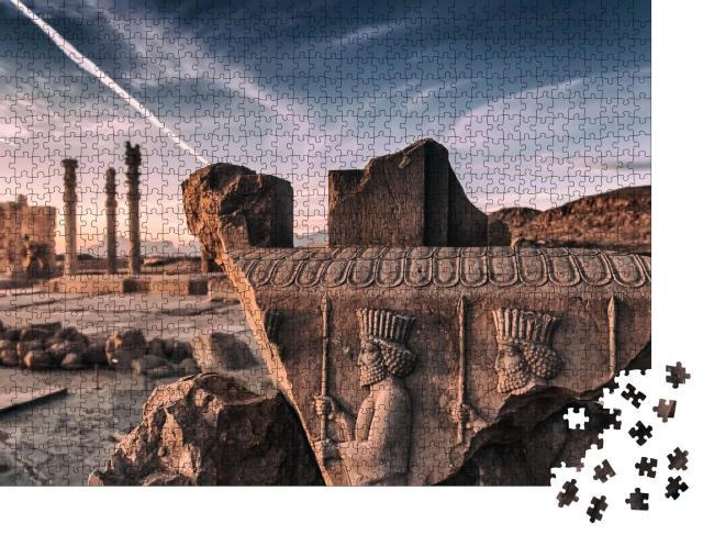 """Puzzle 1000 Teile """"Persepolis: zeremonielle Hauptstadt des Achämenidenreiches, Iran"""""""