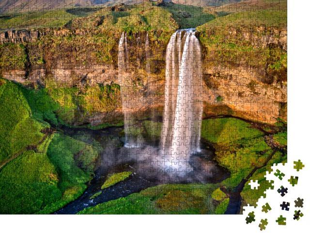 """Puzzle 1000 Teile """"Einer der schönsten Wasserfälle in Island: Seljalandfoss"""""""