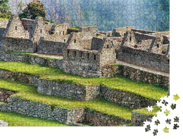 """Puzzle 1000 Teile """"Nahansicht der Ruinen der Zitadelle von Machu Picchu in Peru"""""""