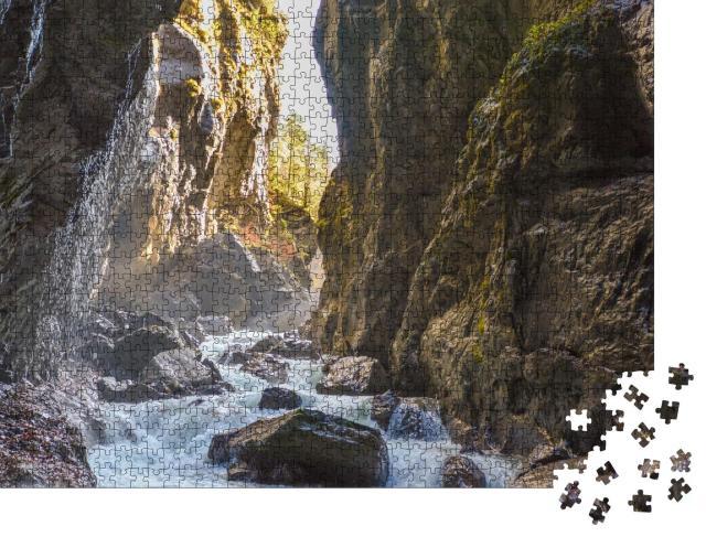 """Puzzle 1000 Teile """"Wilde Partnachklamm in Garmisch-Partenkirchen, Deutschland"""""""