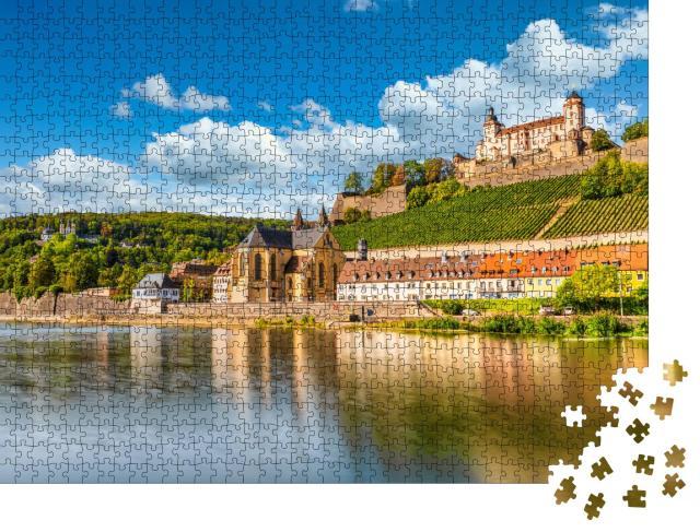 """Puzzle 1000 Teile """"Festung Marienberg am Main in Würzburg, Bayern, Deutschland"""""""