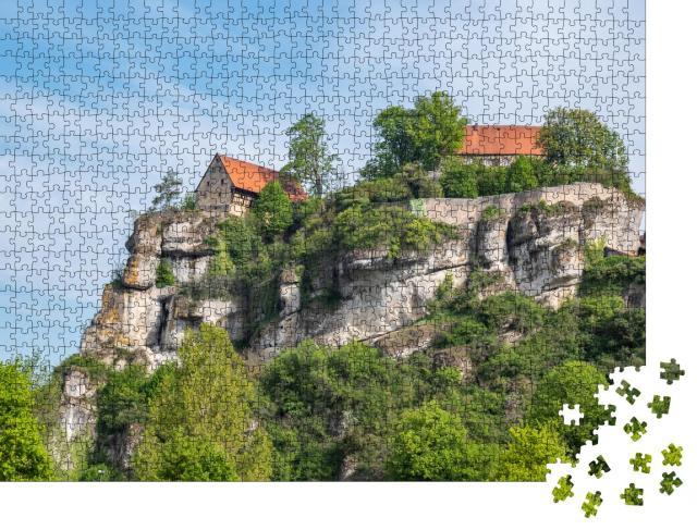 """Puzzle 1000 Teile """"Blick auf Burg Pottenstein in der Fränkischen Schweiz"""""""