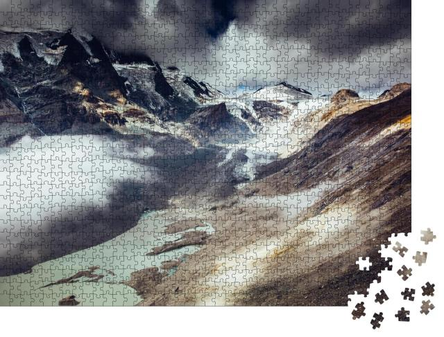 """Puzzle 1000 Teile """"Wilder Großglockner-Nationalpark, Hohe Tauern, Österreich"""""""