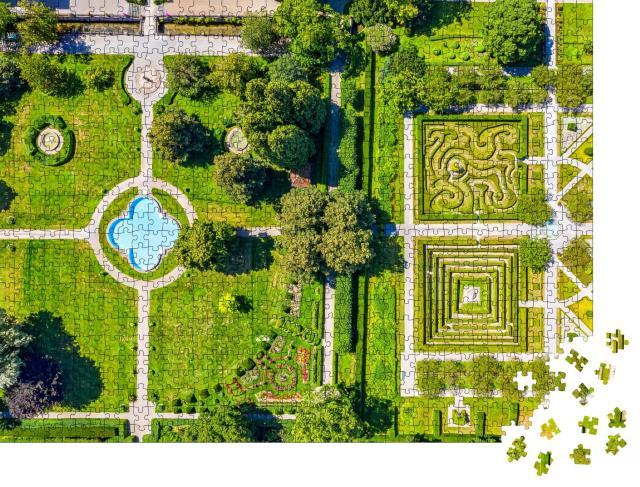 """Puzzle 1000 Teile """"Gärten von Schloss Salem am Bodensee aus der Luft, Deutschland"""""""