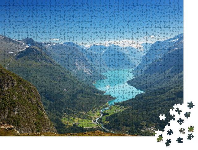 """Puzzle 1000 Teile """"Birkensee zwischen malerischen Bergen"""""""