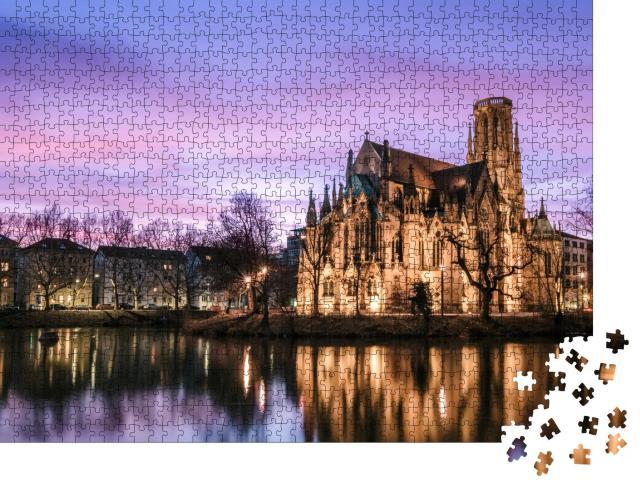 """Puzzle 1000 Teile """"Die Feuerseekirche, Stuttgart, Deutschland"""""""