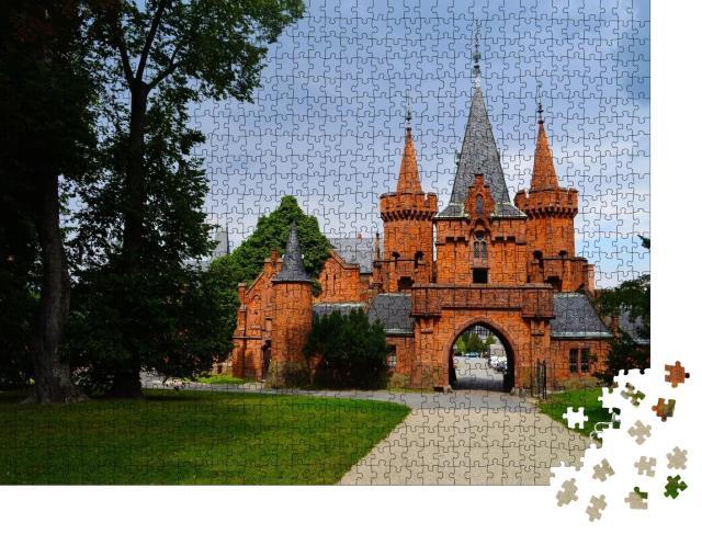 """Puzzle 1000 Teile """"Schloss Hradec nad Moravici in der Tschechischen Republik"""""""