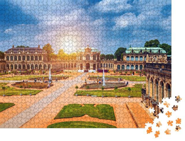 """Puzzle 1000 Teile """"Dresdner Zwinger, Kunsthalle von Dresden, Sachsen, Deutschland"""""""