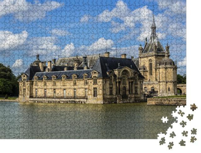 """Puzzle 1000 Teile """"Schloss Chantilly von 1560, Oise, Picardie, Frankreich"""""""