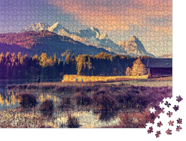 """Puzzle 1000 Teile """"Wunderschöner Blick über das Karwendelgebirge, Deutschland"""""""