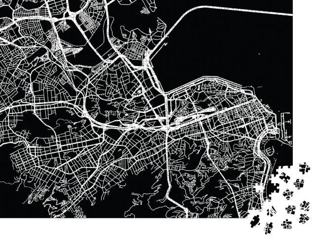 "Puzzle 1000 Teile ""Vektor-Stadtplan von Rio de Janeiro, Brasilien"""