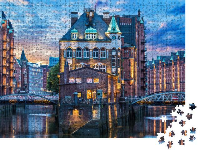 """Puzzle 1000 Teile """"Hamburg: Alte Speicherstadt"""""""