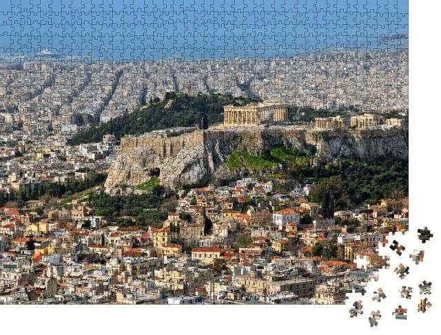"""Puzzle 1000 Teile """"Blick über die Stadt und die Akropolis in Athen, Griechenland"""""""