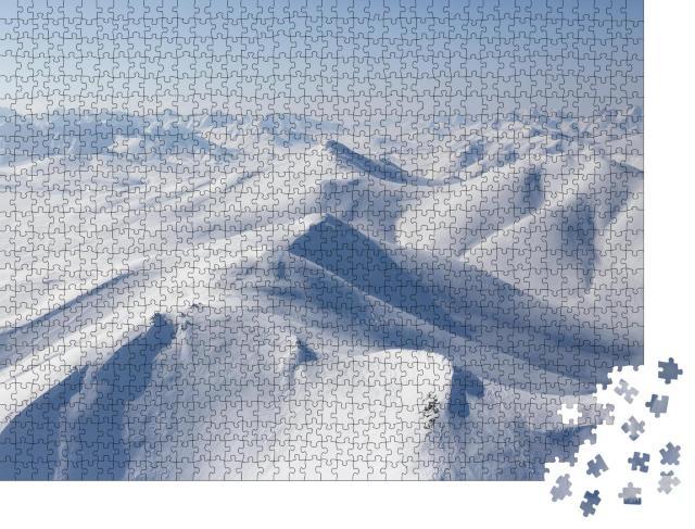 """Puzzle 1000 Teile """"Schöne arktische Landschaft aus der Luft, Sibirien, Russland"""""""