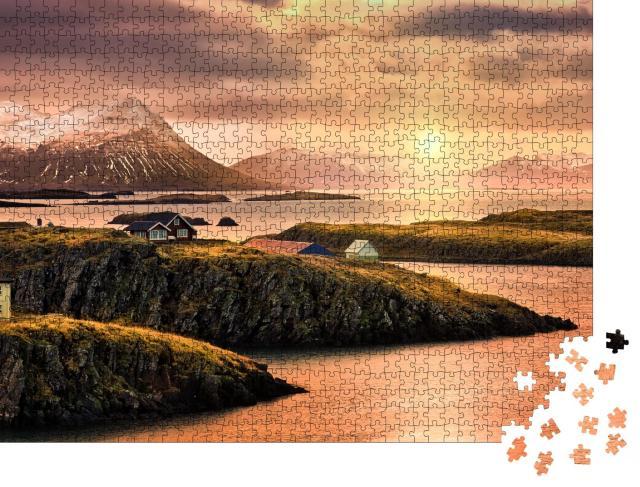 """Puzzle 1000 Teile """"Die felsigen Fjorde von Stykkisholmur, Island"""""""
