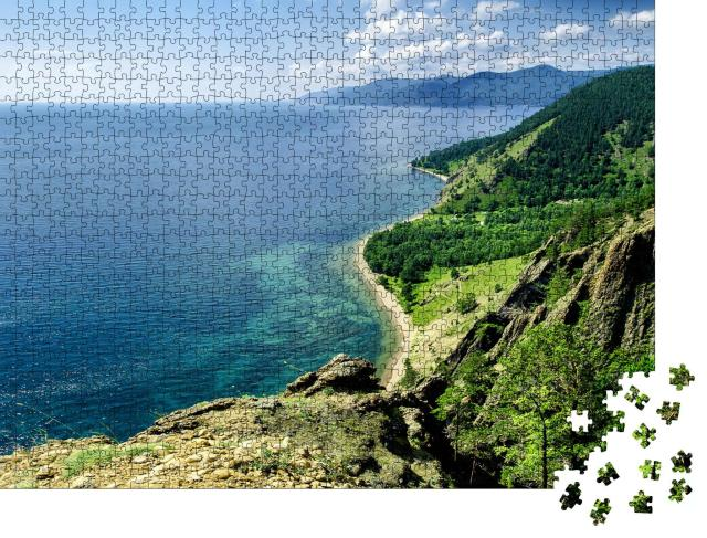 """Puzzle 1000 Teile """"Blick über den schönen Baikalsee, Russland"""""""