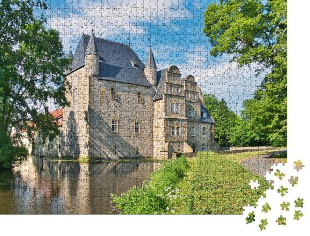 """Puzzle 1000 Teile """"Wasserschloss Schelenburg bei Schledehausen, Bissendorf bei Osnabrück"""""""