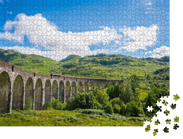 """Puzzle 1000 Teile """"Glenfinnan-Viadukt im Westen Schottlands"""""""