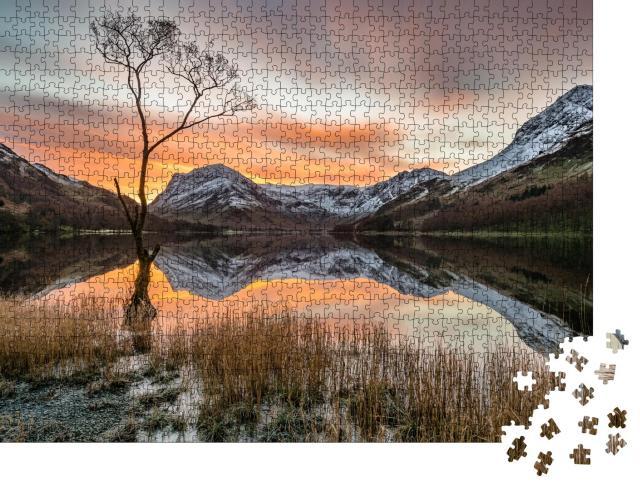 "Puzzle 1000 Teile ""Stimmungsvolles Bergpanorama mit Sonnenaufgang, Lake District, UK"""