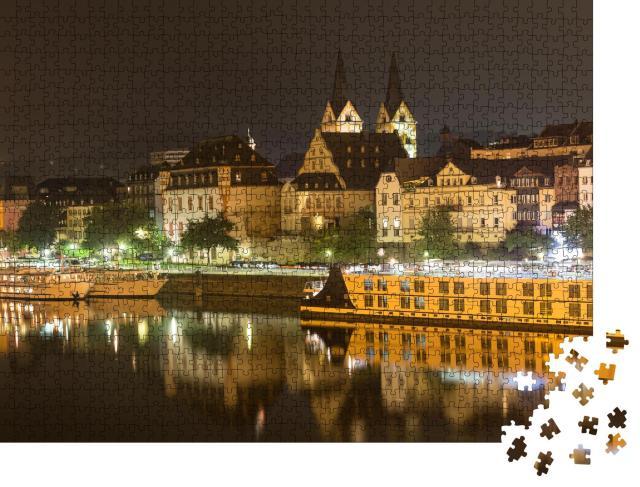 """Puzzle 1000 Teile """"Koblenz am Rhein bei Nacht"""""""