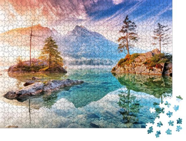 """Puzzle 1000 Teile """"Hintersee im Nationalpark Ramsau, Deutschland"""""""