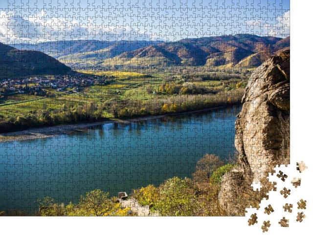 """Puzzle 1000 Teile """"Landschaft der Wachau, Fluss Donau, Österreich"""""""