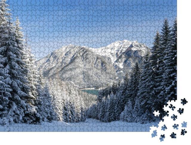 """Puzzle 1000 Teile """"Winterliche Landschaft am Achensee, Tirol, Österreich"""""""