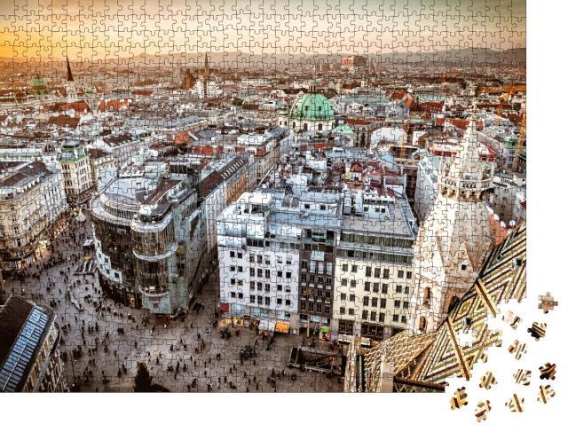 """Puzzle 1000 Teile """"Wien bei Sonnenuntergang, Österreich"""""""