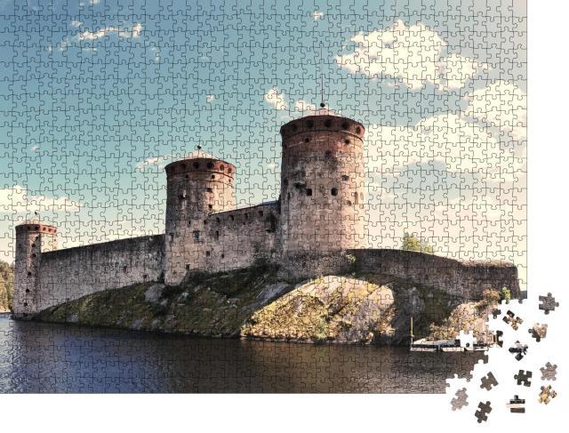 """Puzzle 1000 Teile """"Alte mittelalterliche Burg in Savonlinna"""""""
