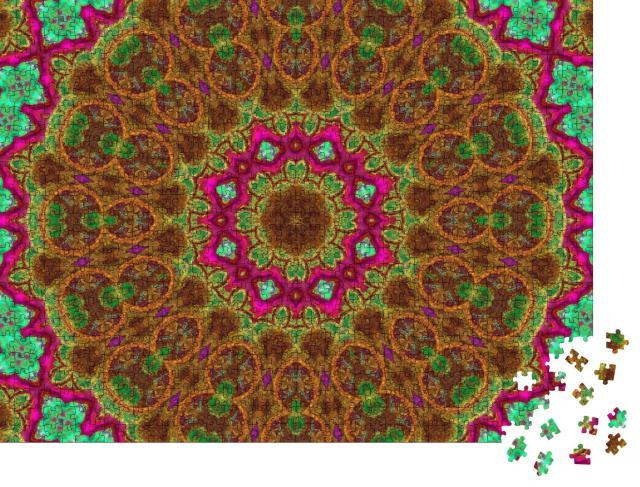 "Puzzle 1000 Teile ""Symmetrische Muster: Ein Mandala"""
