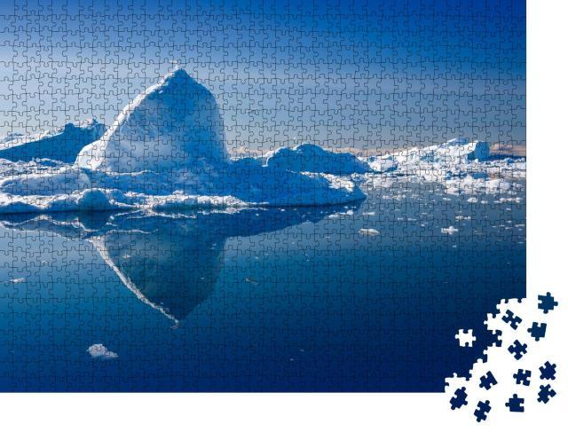 """Puzzle 1000 Teile """"Natur und Landschaft der Polarregion, Eis und Eisberge"""""""