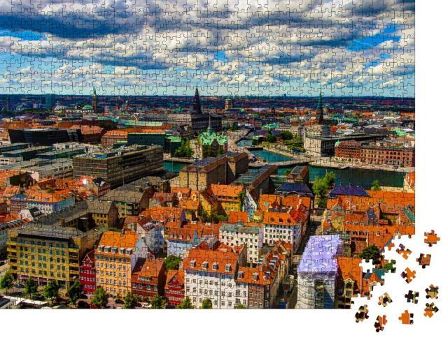 """Puzzle 1000 Teile """"Stadtbild von Kopenhagen, Dänemark"""""""