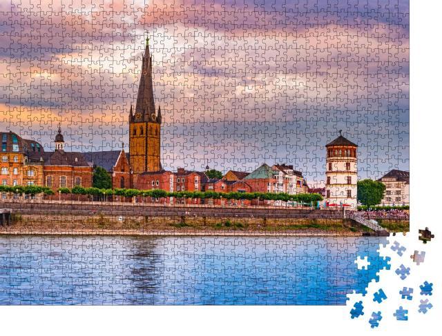 """Puzzle 1000 Teile """"Skyline von Düsseldorf am Rhein, Deutschland"""""""