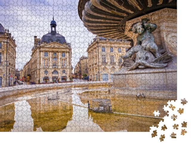 """Puzzle 1000 Teile """"Der Place de la Bourse in der Stadt Bordeaux, Frankreich"""""""