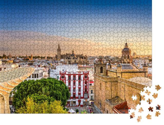 """Puzzle 1000 Teile """"Altstadtsilhouette von Sevilla, Spanien"""""""