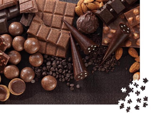 """Puzzle 1000 Teile """"Sortiment von feinen Pralinen und Schokolade"""""""