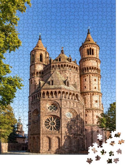 """Puzzle 1000 Teile """"Historischer Dom zu Worms, Deutschland"""""""