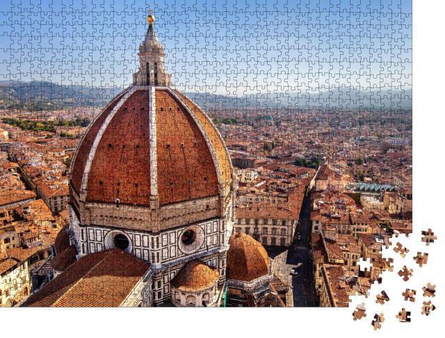 "Puzzle 1000 Teile ""Blick auf die Kathedrale Santa Maria del Fiore in Florenz, Italien"""