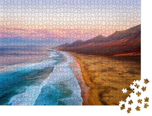 """Puzzle 1000 Teile """"Strand von Cofete an der Südspitze Fuerteventuras"""""""