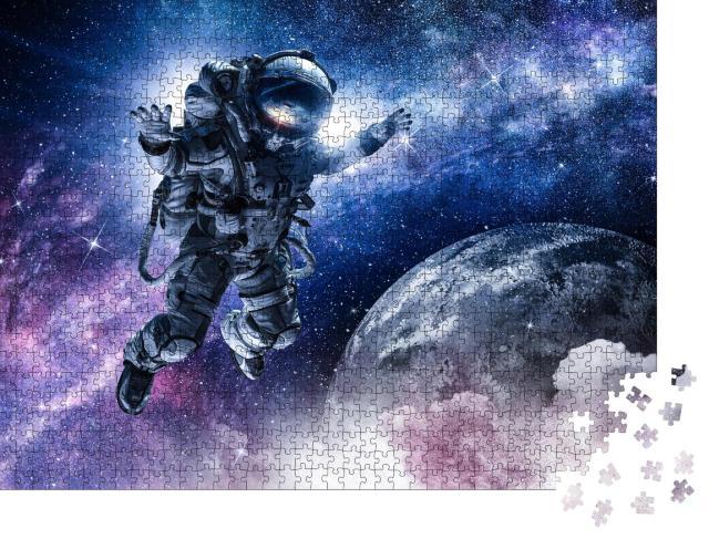 """Puzzle 1000 Teile """"Astronaut auf Weltraummission"""""""