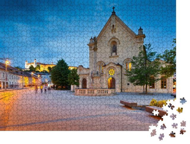 """Puzzle 1000 Teile """"Malerische Altstadt von Bratislava, Slowakei"""""""