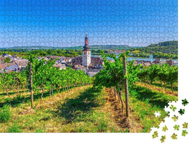 """Puzzle 1000 Teile """"Rüdesheim am Rhein, Deutschland"""""""