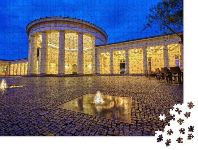 """Puzzle 1000 Teile """"Nachtaufnahme des Elisenbrunnens in der Kurstadt Aachen, Deutschland"""""""