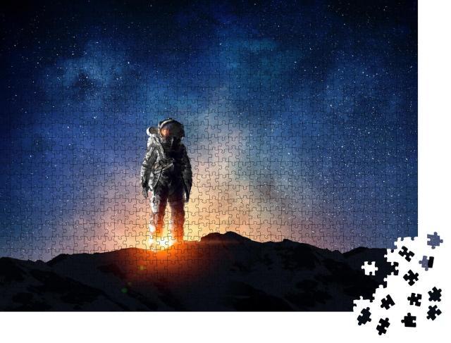 """Puzzle 1000 Teile """"Astronaut und seine Mission"""""""
