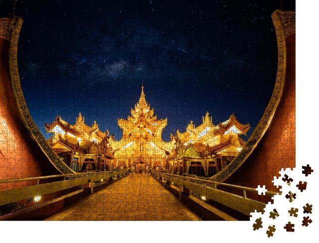 """Puzzle 1000 Teile """"Faszinierender Karaweik Palast, Yangon, Myanmar"""""""