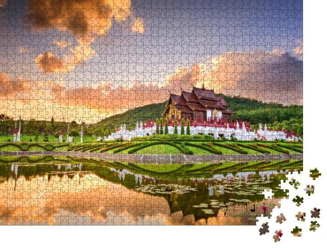 """Puzzle 1000 Teile """"Royal Flora Ratchaphruek Park ,Chiang Mai, Thailand"""""""